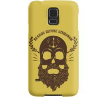Beards Before Dishonor - Brown Samsung Galaxy Case/Skin