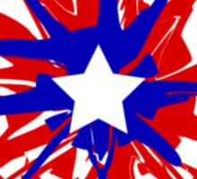 Splatter Captain America Shield Sticker