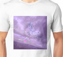Purple Music Notes Abstract Unisex T-Shirt
