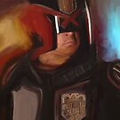 Dredd Painting by Steven Stills