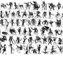 70 Thumbnail Sketches by Austen Mengler