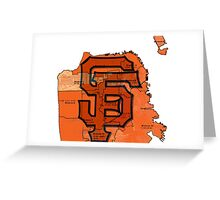 San Francisco Giants Map Greeting Card