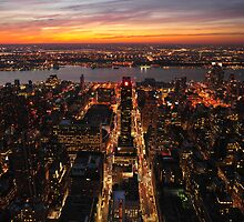 Sunset from the Empire State Building I by Carlo Biondi