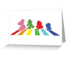 Rainbow Road Greeting Card