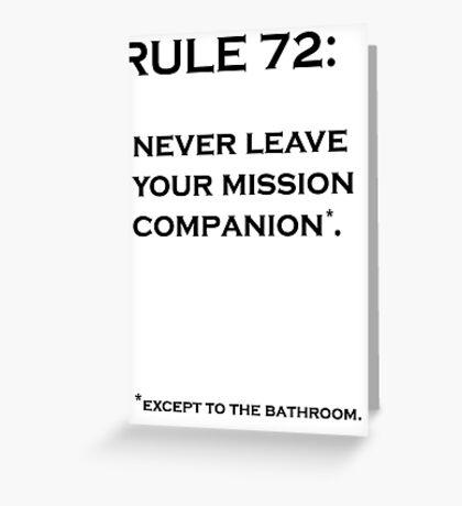 Rule 72 Greeting Card
