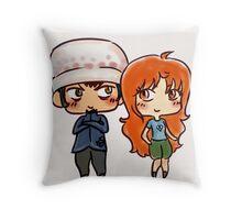 Lawna (Trafalgar Law x Nami) Doodle Throw Pillow