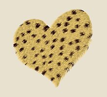 Heart Cheetah Print, Print, Poster, iPhone Case, Samsung Case, iPad Case, Home Decor, Throw Pillows, Totes, Duvet Covers by Lallinda