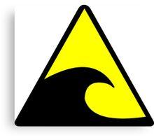 Tsunami Hazard Symbol Canvas Print