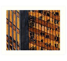 Sydney building reflection 11 Art Print