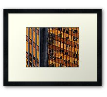 Sydney building reflection 11 Framed Print