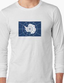 Flag of the Antarctic Treaty  Long Sleeve T-Shirt