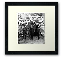 Lincoln: Dipped in Handsome Batter Framed Print