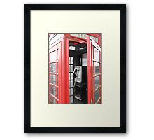 Phone Booth Back In Time Framed Print