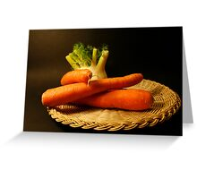 plate with fennel and carrots Greeting Card