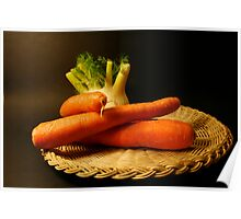 plate with fennel and carrots Poster