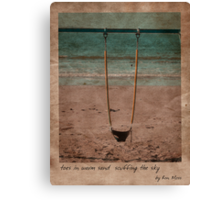 in the sand Canvas Print