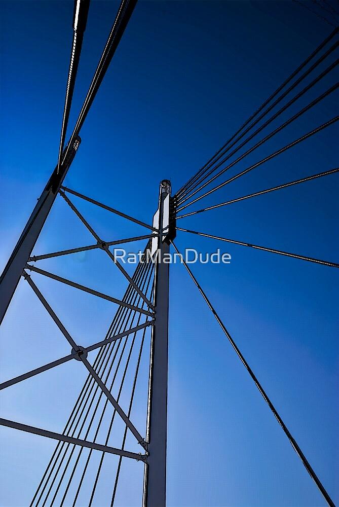 Suspension Bridge Detail  - In Cartoon Rendition by RatManDude