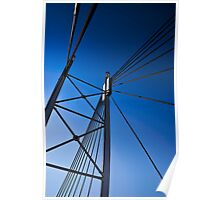 Suspension Bridge Detail  - In Cartoon Rendition Poster