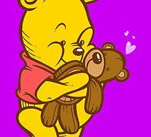 Pooh And Teddy by artdyslexia