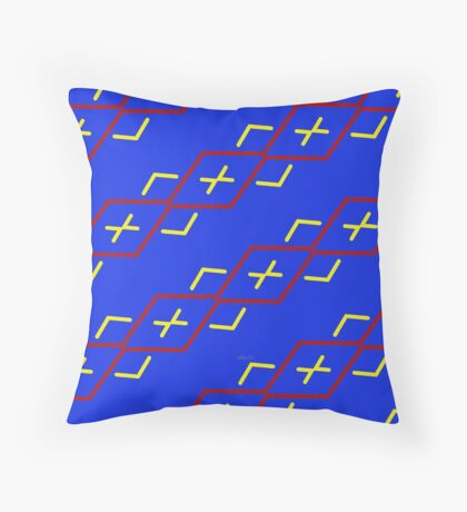 sd Abstract Pattern 110 C primary colors Throw Pillow
