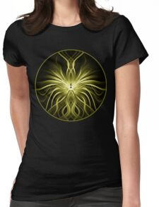 Golden Flame Abstract Womens Fitted T-Shirt