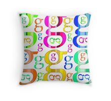 Colorful Letter G Throw Pillow