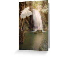 Floating and Flowing Greeting Card