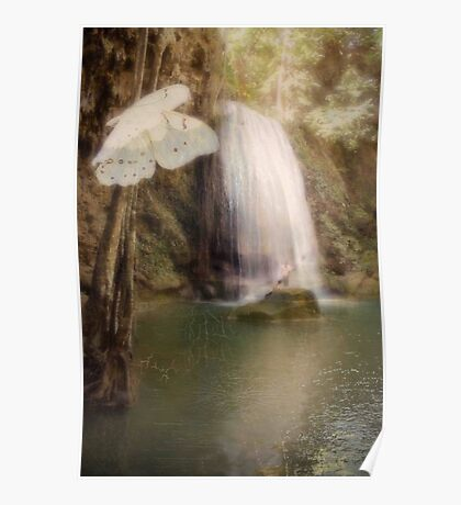 Floating and Flowing Poster