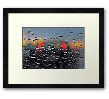 answering your call in the rain... Framed Print