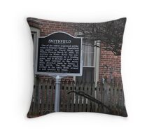 Smithfield Historic Marker Throw Pillow