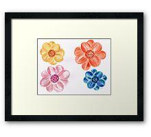 Bright coloured Flowers Framed Print
