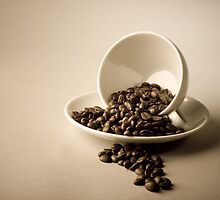 Cup and Coffee Beans by Tim Smith