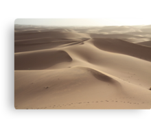 Footprints in the sand (Sahara, Morocco) Canvas Print