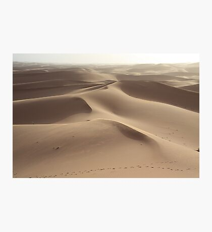 Footprints in the sand (Sahara, Morocco) Photographic Print