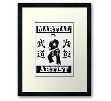 Martial Artist Framed Print