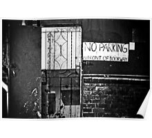 No Parking Poster
