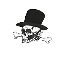 Skull and Tophat Photographic Print