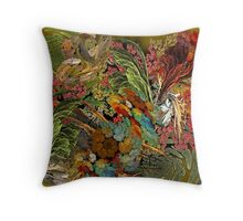 my imaginary garden Throw Pillow