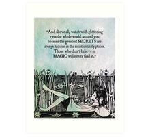 Roald Dahl - Watch with Glittering Eyes Art Print