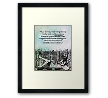 Roald Dahl - Watch with Glittering Eyes Framed Print