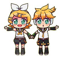 Twins Rin and Len by catdoodle