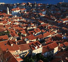 Dubrovnik Roofs by Andrew Willesee
