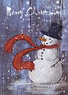 Snowy Christmas Card by Ine Spee