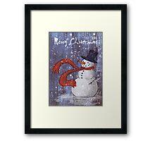 Snowy Christmas Card Framed Print