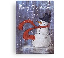 Snowy Christmas Card Canvas Print