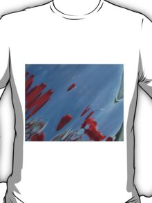 Tulips, Dorothy, Abstract Photography, Raw Image, Refraction through glass T-Shirt