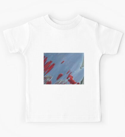 Tulips, Dorothy, Abstract Photography, Raw Image, Refraction through glass Kids Tee