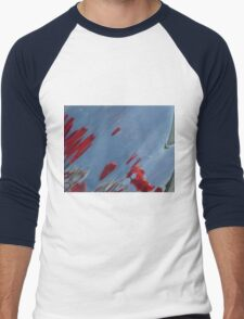 Tulips, Dorothy, Abstract Photography, Raw Image, Refraction through glass Men's Baseball ¾ T-Shirt