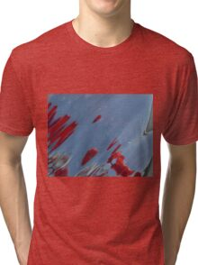 Tulips, Dorothy, Abstract Photography, Raw Image, Refraction through glass Tri-blend T-Shirt
