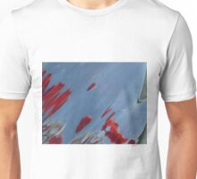Tulips, Dorothy, Abstract Photography, Raw Image, Refraction through glass Unisex T-Shirt